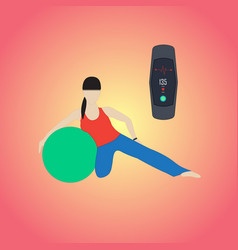 Fitness bracelet health vector