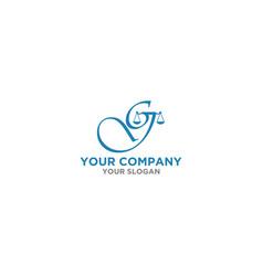 g script law firm logo design vector image