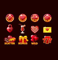 Gaming icon stvalentine symbols vector