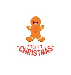 Ginger man Cheerful Christmas card vector
