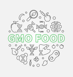 gmo food round concept in vector image