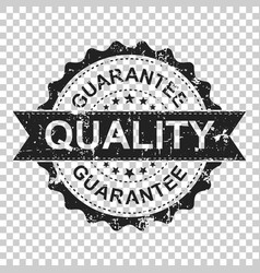 guarantee scratch grunge rubber stamp on isolated vector image