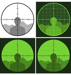 gun crosshair sight vector image