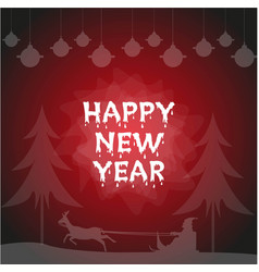 happy new year poster flyer vector image