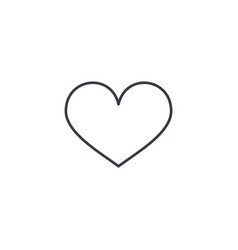 Heart shape thin line icon linear symbol vector
