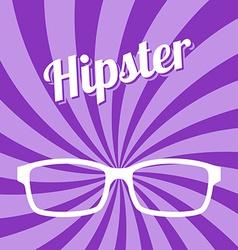 hipster glasses art vector image