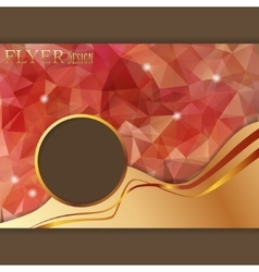 Horizontal presentation of business flyer vector image