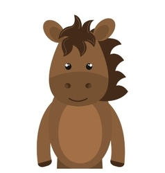 Horse animal cartoon vector