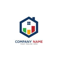 house report logo icon design vector image