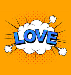 i love you image comic elements vector image