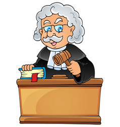 image with judge theme 1 vector image
