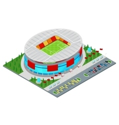 Isometric Football Soccer Stadium Building vector