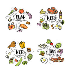 Keto cook book ketogenic plan keto for beginners vector