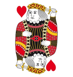 King of hearts no card vector
