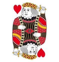 King of hearts no card vector image