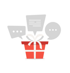 lets talk about gifts red modarok with a white vector image
