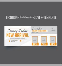 Mens fashion social media cover template design vector