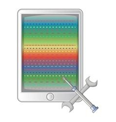 Mobile repair icon cartoon style vector