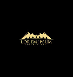 mountain and pine tree logo template vector image