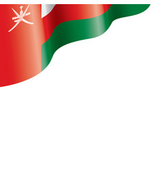 Oman flag on a white vector