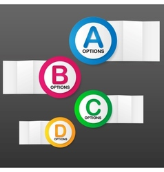 options banner template vector image