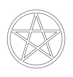 pentagram icon vector image