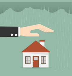property insurance and security concept vector image