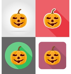 pumpkins for halloween flat icons 10 vector image