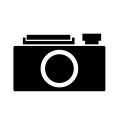 retro camera isolated icon design vector image
