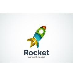 Rocket logo template vector