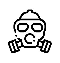 Safe life gaz dirty air mask thin line icon vector
