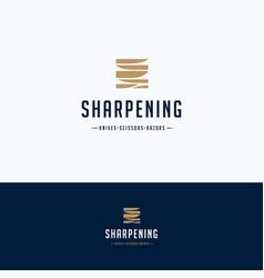 sharpening service logo vector image