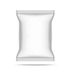 Simple food snack pillow bag on white background vector