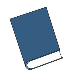 single book icon image vector image