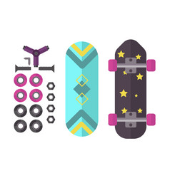 skateboard icon extreme sport sign vector image