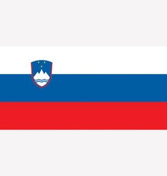 Slovenian flag vector image