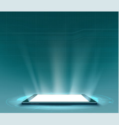 smartphone with white blank screen vector image