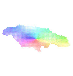 spectral jamaica map vector image