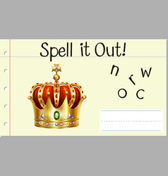 Spell it out crown vector