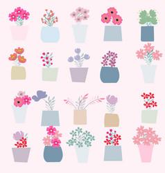 spring summer flower pot vector image