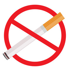 the sign no smoking on white vector image