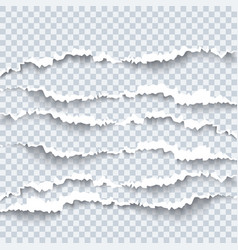 torn paper with ripped edges and shadow graphic vector image