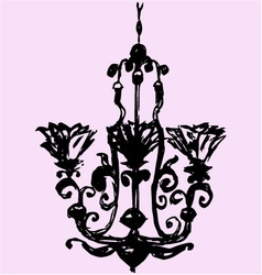 vintage decorative chandelier vector image