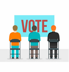 vote people concept background flat style vector image
