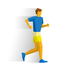 walking sportsman race walk competition vector image