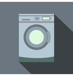 Washer flat icon with shadow vector