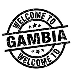 welcome to gambia black stamp vector image