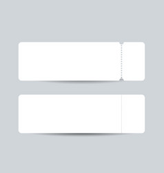 white blank ticket mockup realistic vector image