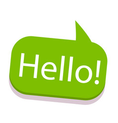 Word text green hello image vector