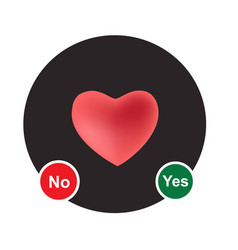 Yes or no select by heart vector